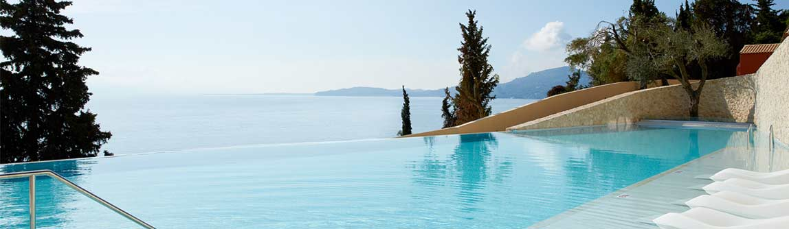 The Marbella Nido hotel in Corfu Greece, book your next holiday at this 5 Star hotel
