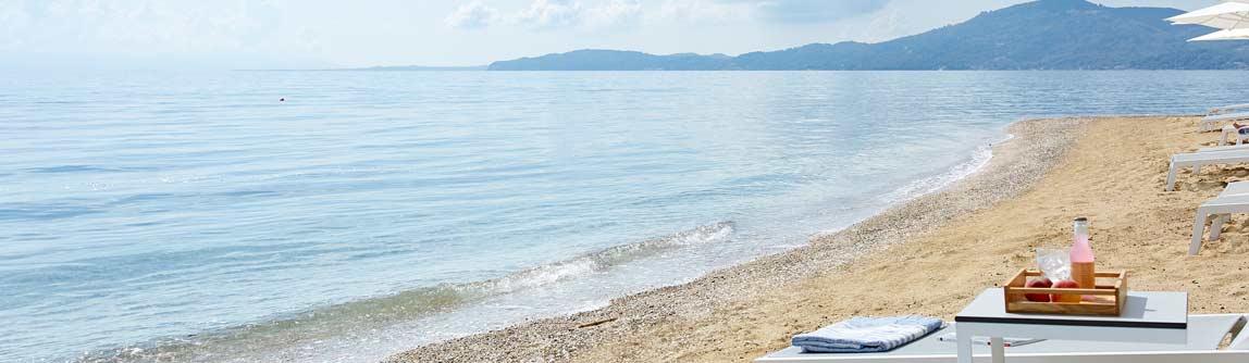 The beach front at the Marbella Nido Resort hotel